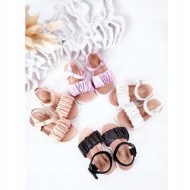 FR1 Dziecięce Sandały Na Rzep Białe Aimy 1