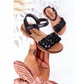 FR1 Dziecięce Sandały Z Plecionką Czarne Bailly 6
