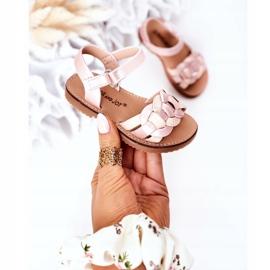 FR1 Dziecięce Sandały Z Wężowym Wzorem Różowe Baxlee 3