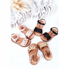 FR1 Dziecięce Sandały Z Wężowym Wzorem Różowe Baxlee 1