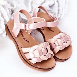 FR1 Dziecięce Sandały Z Wężowym Wzorem Różowe Baxlee 2