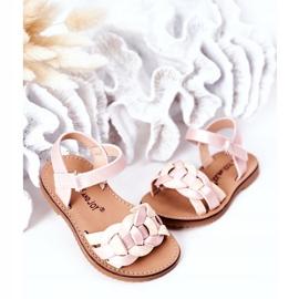 FR1 Dziecięce Sandały Z Wężowym Wzorem Różowe Baxlee 4