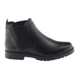 Caprice botki buty damskie zimowe 25468 czarne 1