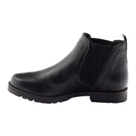 Caprice botki buty damskie zimowe 25468 czarne 2