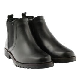 Caprice botki buty damskie zimowe 25468 czarne 4