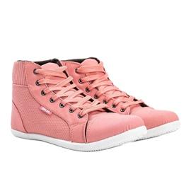 Różowe sneakersy za kostkę Feel This 1