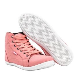 Różowe sneakersy za kostkę Feel This 3