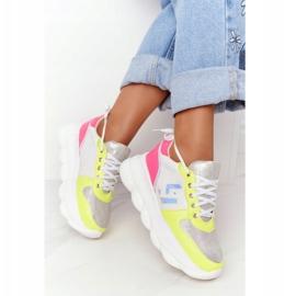 Damskie Sportowe Buty Na Platformie Lu Boo Białe wielokolorowe 1