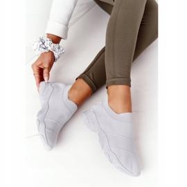 PS1 Damskie Sportowe Buty Slip-on Szare Yoga Class 5