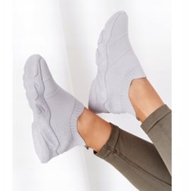 PS1 Damskie Sportowe Buty Slip-on Szare Yoga Class 1