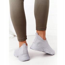 PS1 Damskie Sportowe Buty Slip-on Szare Yoga Class 3