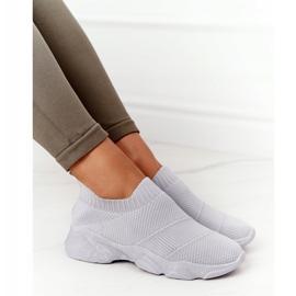PS1 Damskie Sportowe Buty Slip-on Szare Yoga Class 6