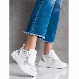 Sweet Shoes Sneakersy Z Brokatem białe 1