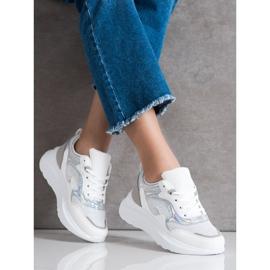 Sweet Shoes Sneakersy Z Brokatem białe 3