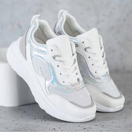 Sweet Shoes Sneakersy Z Brokatem białe 2