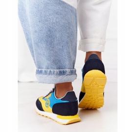 Damskie Sportowe Buty Memory Foam Big Star HH274525 Żółto-Niebieskie wielokolorowe 1