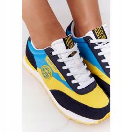 Damskie Sportowe Buty Memory Foam Big Star HH274525 Żółto-Niebieskie wielokolorowe 7