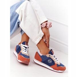 Damskie Sportowe Buty Memory Foam Big Star HH274567 Niebiesko-Pomarańczowe niebieskie 1