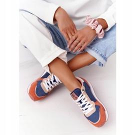 Damskie Sportowe Buty Memory Foam Big Star HH274567 Niebiesko-Pomarańczowe niebieskie 3