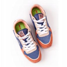 Damskie Sportowe Buty Memory Foam Big Star HH274567 Niebiesko-Pomarańczowe niebieskie 4