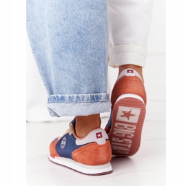 Damskie Sportowe Buty Memory Foam Big Star HH274567 Niebiesko-Pomarańczowe niebieskie 5