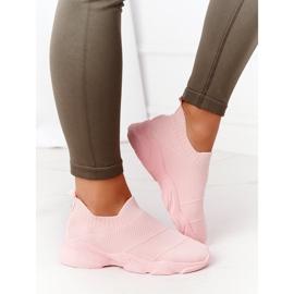 PS1 Damskie Sportowe Buty Slip-on Różowe Yoga Class 1