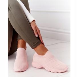 PS1 Damskie Sportowe Buty Slip-on Różowe Yoga Class 3