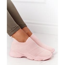 PS1 Damskie Sportowe Buty Slip-on Różowe Yoga Class 4