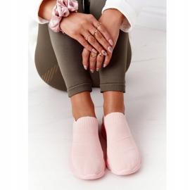PS1 Damskie Sportowe Buty Slip-on Różowe Yoga Class 5
