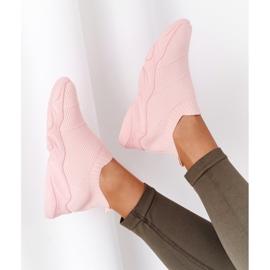 PS1 Damskie Sportowe Buty Slip-on Różowe Yoga Class 6