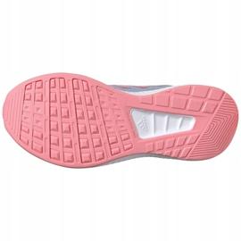 Buty dla dzieci adidas Runfalcon 2.0 K szaro-różowe FY9497 szare 2