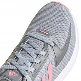 Buty dla dzieci adidas Runfalcon 2.0 K szaro-różowe FY9497 szare 3