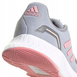 Buty dla dzieci adidas Runfalcon 2.0 K szaro-różowe FY9497 szare 4