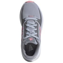 Buty dla dzieci adidas Runfalcon 2.0 K szaro-różowe FY9497 szare 1