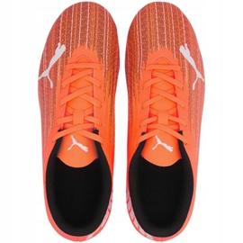 Buty piłkarskie Puma Ultra 4.1 Fg Ag Jr 106100-01 pomarańczowe wielokolorowe 1