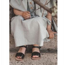 FR1 Dziecięce Sandały Z Plecionką Czarne Bailly 1