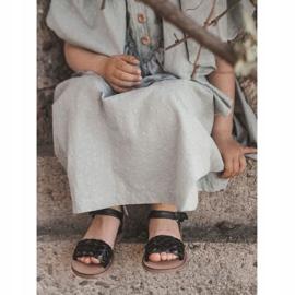 FR1 Dziecięce Sandały Z Plecionką Czarne Bailly 2