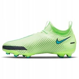Buty piłkarskie Nike Phantom Gt Academy Df Mg Jr CW6694-303 wielokolorowe zielone 5