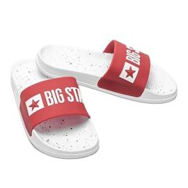 Czerwone klapki damskie Big Star Sandi 3