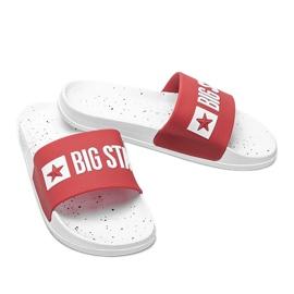 Czerwone klapki damskie Big Star Sandi 4