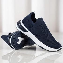 SHELOVET Wsuwane Ażurowe Sneakersy granatowe niebieskie 1