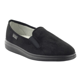 Befado buty męskie zdrowotne kapcie 991M002 czarne 1