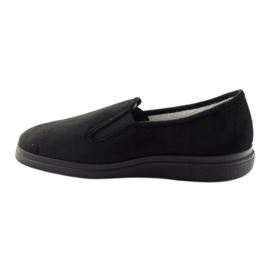 Befado buty męskie zdrowotne kapcie 991M002 czarne 2