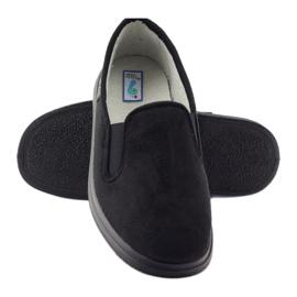 Befado buty męskie zdrowotne kapcie 991M002 czarne 3