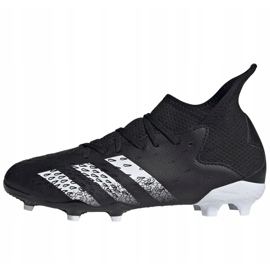 Buty piłkarskie adidas Predator Freak .3 Fg Jr FY1031 wielokolorowe czarne 1