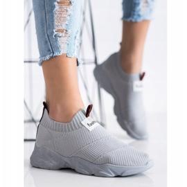 SHELOVET Wsuwane Sneakersy Fashion szare 3
