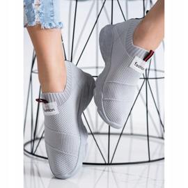 SHELOVET Wsuwane Sneakersy Fashion szare 2