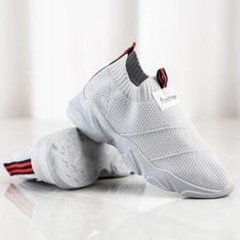SHELOVET Wsuwane Sneakersy Fashion szare 1