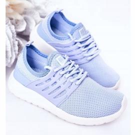 Dziecięce Sportowe Buty Sneakersy Big Star HH374214 Jasnoniebieskie 4