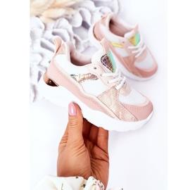 Dziecięce Sportowe Buty Sneakersy Różowe Game Time białe 3